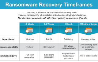 Ransomware Recovery Timeframes Infographic